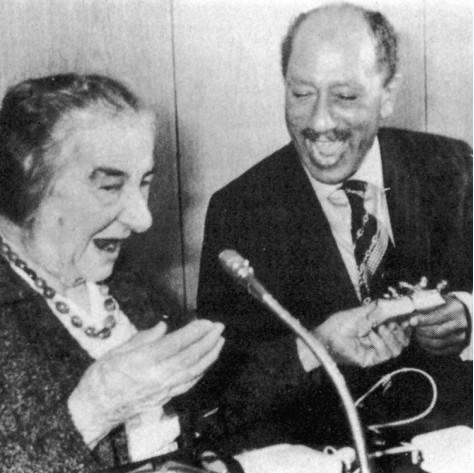 Golda and Sadat Quelle times of Israel